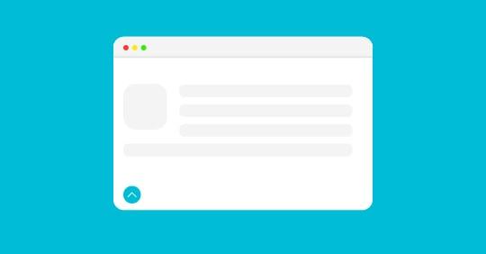 طراحی دکمه بازگشت به بالا برای سایت
