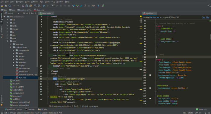 کد ادیتور JetBrains WebStorm
